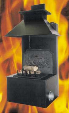 """FOYER BERMAN """"cheminée transformable en poêle"""""""