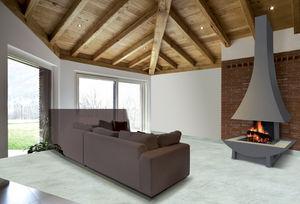 chemin e ouverte avec r cup rateur foyer berman double feu. Black Bedroom Furniture Sets. Home Design Ideas
